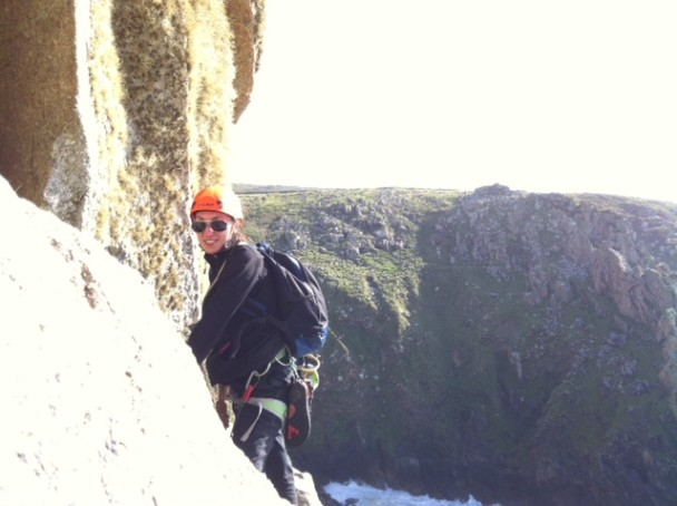 photo 2 608x454 Guided rock climbing: Bosigran sea cliffs with Mel