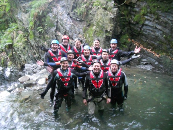 1381624 580492212012620 496627564 n 608x456 Multi activity day: abseiling & gorge scrambling for Richards Stag