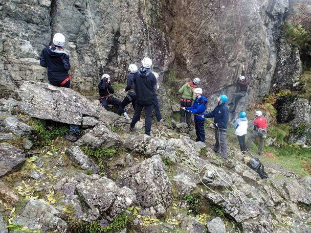 10704291 701443346613391 90836281665758158 o 608x456 Multi activity day: abseiling & rock climbing