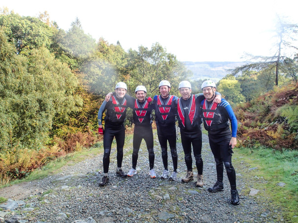20141011 PA110320 608x456 Multi activity day: abseiling & canyoning Stag Do